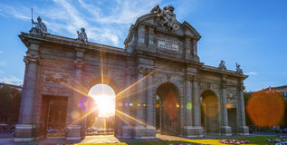Puerta de Alcala located at Madrid Royalty Free Stock Images