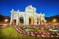 Puerta de Alcala, Madri, Espanha Fotografia de Stock