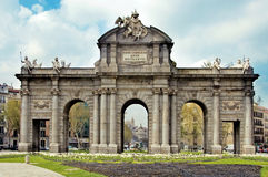 Puerta de Alcala, Madrid. A view of Puerta de Alcala, in Madrid, Spain Royalty Free Stock Photos