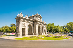 Puerta de Alcala Madrid. Puerta de Alcala (Alcala Gate) in Madrid, Spain Royalty Free Stock Photos