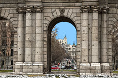 Puerta de alcala Madrid Royalty Free Stock Images