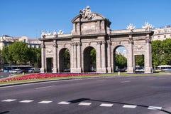 The Puerta de Alcala in Madrid Stock Image