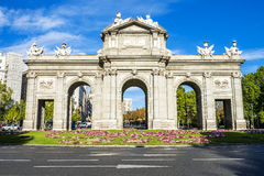 The Puerta de Alcala, Madrid Stock Images