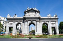 Puerta de Alcala in Madrid, Spain Stock Photos