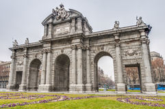 Puerta de Alcala at Madrid, Spain Stock Image