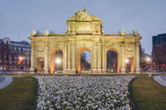Puerta de Alcala at Madrid, Spain Royalty Free Stock Photography