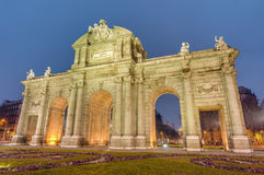 Puerta de Alcala at Madrid, Spain Stock Photos