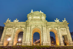 Puerta de Alcala at Madrid, Spain Royalty Free Stock Photo