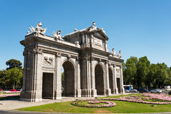 Puerta de Alcala in Madrid Spain Stock Images