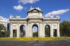 Puerta de Alcala in Madrid Stock Photos