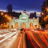 Puerta de Alcala, Madrid, Spain Royalty Free Stock Images