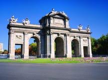 Puerta de Alcala, Madrid, Spain. Royalty Free Stock Images