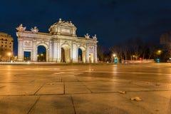Puerta de Alcala in Madrid, Spain Stock Images