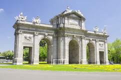 Puerta de Alcala, Madrid, Spain. Royalty Free Stock Images