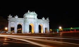 Puerta de Alcala, Madrid, Spain. Stock Images