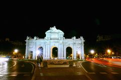Puerta de Alcala, Madrid, Spain. Stock Photos