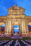 Puerta de Alcala in Madrid, Spain Stock Photography