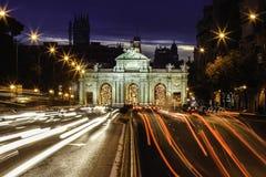 Puerta de Alcala, Madrid, Spanien Arkivfoto