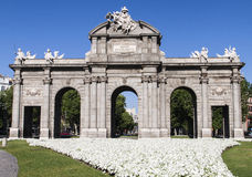 Puerta de Alcala. Madrid, Spanien Stockbild