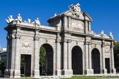 Puerta de Alcala. Madrid, Spanien Lizenzfreie Stockbilder