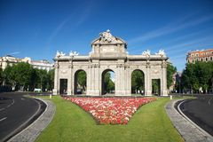 Puerta de Alcala monument Royalty Free Stock Photo