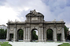 Puerta de Alcala, monument of Madrid, Spain Stock Images