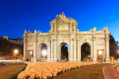 The Puerta de Alcala is a monument in the Plaza de la Independen Royalty Free Stock Photo