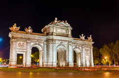 Puerta de Alcala, one of the ancient gates in Madrid, Spain Royalty Free Stock Images