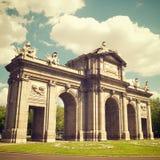 Puerta de Alcala. View in Madrid, Spain Stock Photography