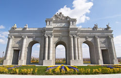 Puerta de Alcala in scale  in Europa Park,Madrid Royalty Free Stock Photo