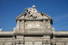 Puerta de Alcala shield detail Royalty Free Stock Photography