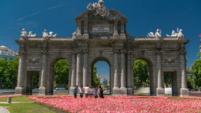 The Puerta de Alcala timelapse is a Neo-classical monument in the Plaza de la Independencia in Madrid, Spain. The Puerta de Alcala  timelapse (Alcala Gate) with stock footage