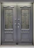 Puerta de aluminio Fotografía de archivo