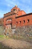 Puerta de Ausfalsky del estilo de Konigsberg de un estilo gótico del ladrillo Fotografía de archivo