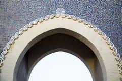Puerta de Bab Bou Jeloud (puerta azul) en Fes, Marruecos Foto de archivo