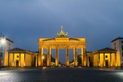 Puerta de Berlín, Brandeburgo Imágenes de archivo libres de regalías