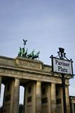 Puerta de Berlín Brandenburgo Foto de archivo