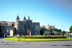 Puerta de Bisagra (äußeres Stadt-Tor), Toledo Stockbilder