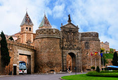 Puerta de Bisagra, Toledo, Spain Royalty Free Stock Photo