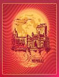 Puerta de Bombay, la India stock de ilustración