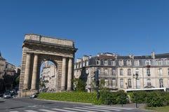Puerta de Bourgogne en Burdeos, Francia Fotos de archivo libres de regalías