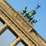 Puerta de Brandeburgo de Berlín en la composición cuadrada Fotos de archivo