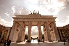 Puerta de Brandeburgo en Berlín Imagen de archivo libre de regalías