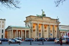 Puerta de Brandeburgo, en Berlín, Alemania Imagen de archivo libre de regalías
