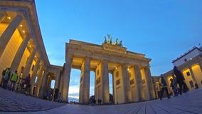 Puerta de Brandeburgo en Berlín, Alemania (lapso de tiempo)