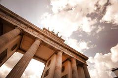 Puerta de Brandeburgo y la cuadriga Imágenes de archivo libres de regalías