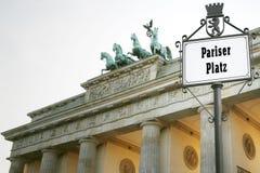Puerta de Brandenburgo Fotografía de archivo libre de regalías