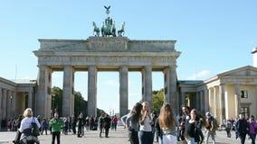 Puerta de Brandenburgo almacen de video