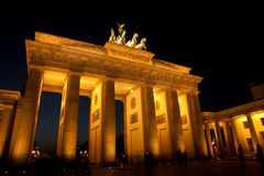 Puerta de Brandenburgo, Berlín Imagenes de archivo