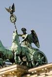 Puerta de Brandenburgo de la cuadriga Fotografía de archivo libre de regalías